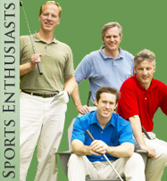 a group of men about to play a round of golf