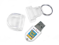 A Top Tag Pet ID with its water proof case.