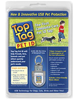 A Top Tag Pet ID in its packaging